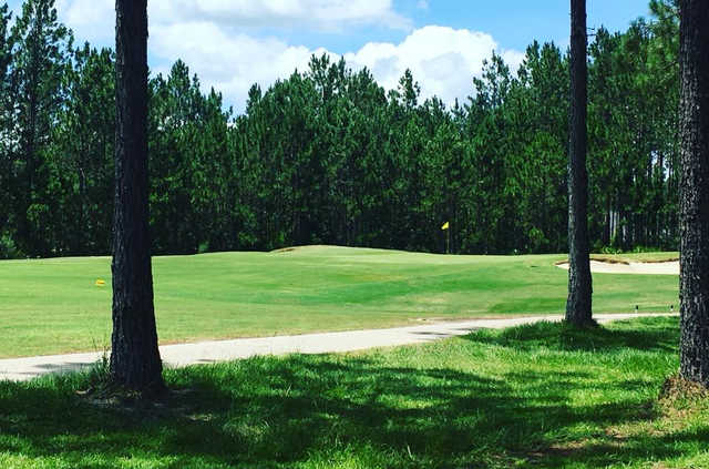 A view of a green at Eagle Landing Golf Club.