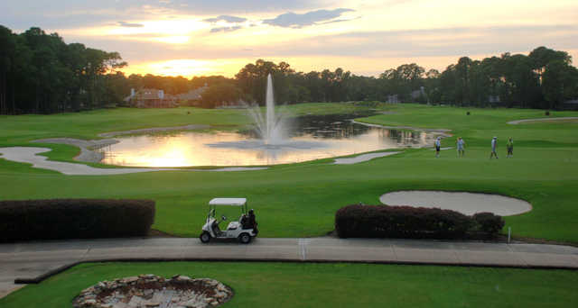 A sunset view from Jacksonville Golf & Country Club.