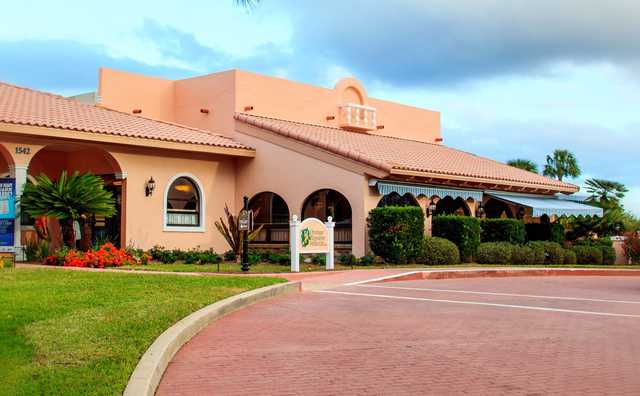 A view of the clubhouse at Orange Blossom Hills Golf & Country Club.