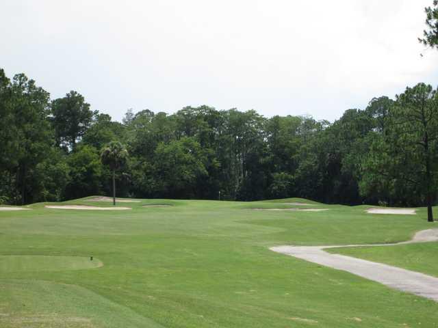 A view from a tee at Indigo Lakes Golf Club.