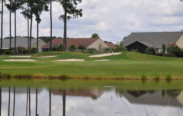 A view of the 15th green at Hidden Cypress Golf Club.