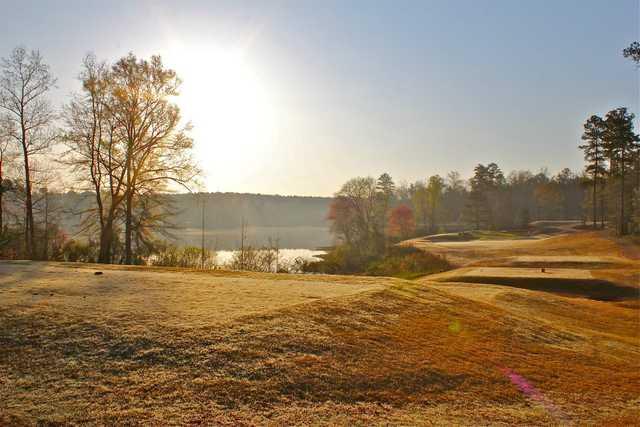A view of a tee at Auburn University Golf Club.