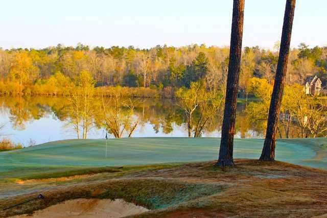 A view of a green at Auburn University Golf Club.