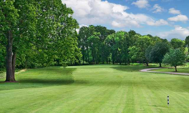 A view from a fairway at Hodge Park Golf Course.