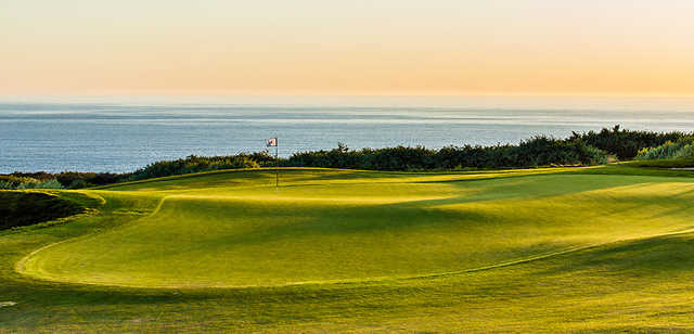 A view of the 3rd green from The Links at Terranea.