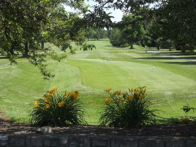 A view of a tee at Bel-Wood Country Club.