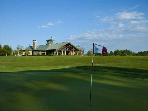 A view of the clubhouse at King & Bear GC @ WGV