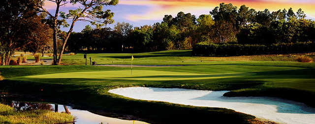 A view of a green at National Golf Club from ChampionsGate.