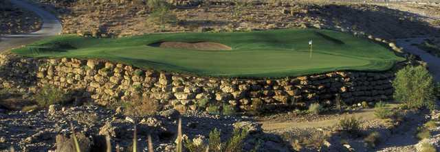 Green No. 2 at TPC Las Vegas golf course in Las Vegas.