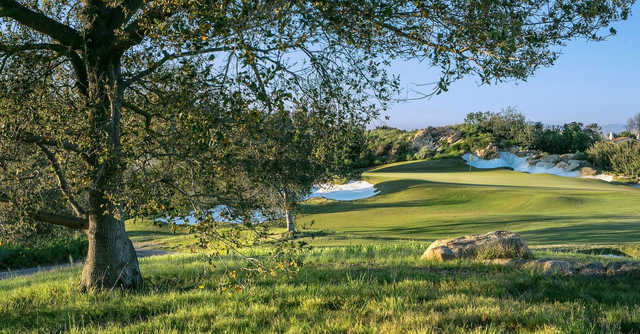 A view of a hole at Shady Canyon Golf Club.