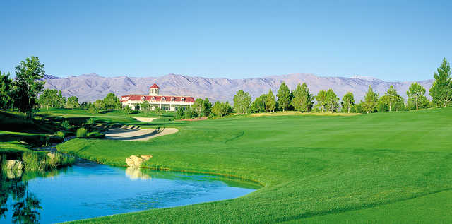 A view from a fairway at Lakes Course from Primm Valley Golf Club.