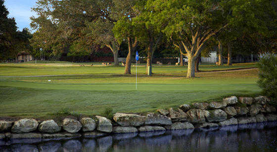 A view of the 2nf green at Live Oak Course from Fair Oaks Ranch Golf & Country Club