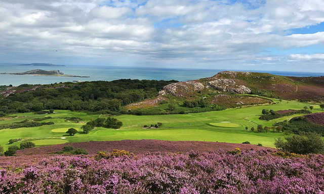 A sunny day view from Howth Golf Club.