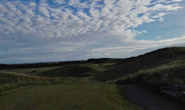 A view from a tee at Hoylake Golf Club.