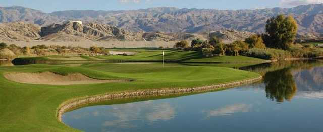 A view over the water from South Course at Golf Club At Terra Lago.