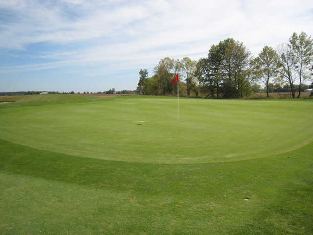 A view of the 14th hole at The Ridge Golf & Gardens