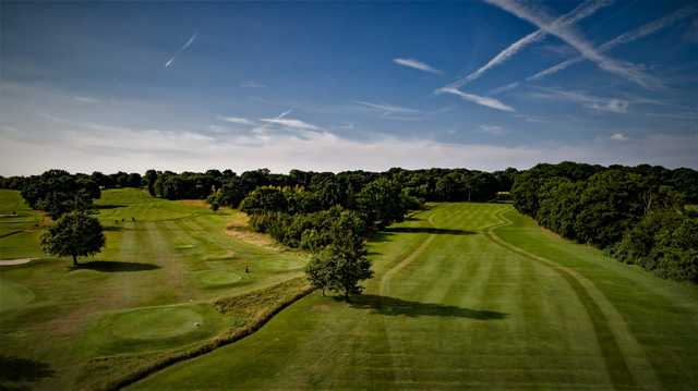 Aerial view of the 5th and 15th hole from Ifield Golf Club.