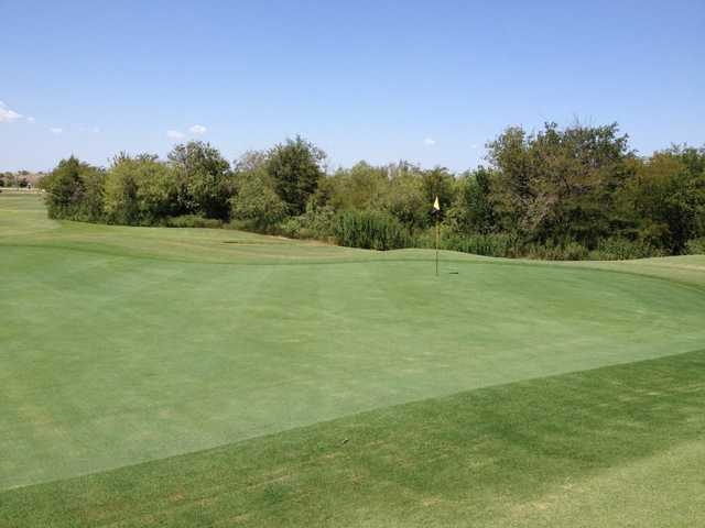 A view of the 18th green at Mansfield National Golf Club.