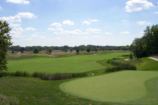 A view of the 10th hole at Cooks Creek Golf Club