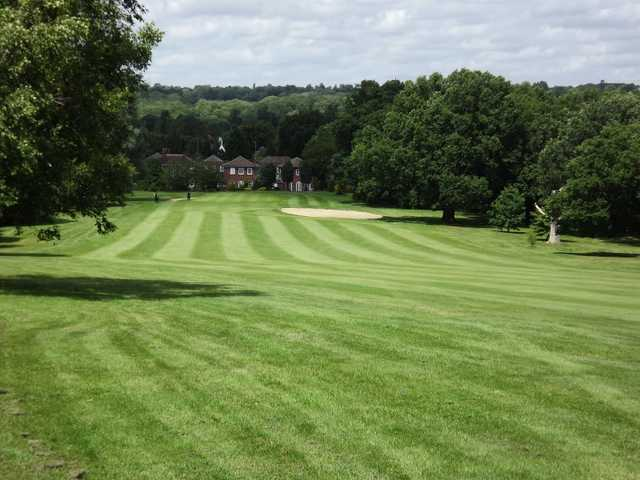 A view of a fairway at Stanmore Golf Club.