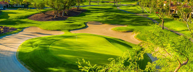 A view of a green at La Quinta Resort Citrus Course.