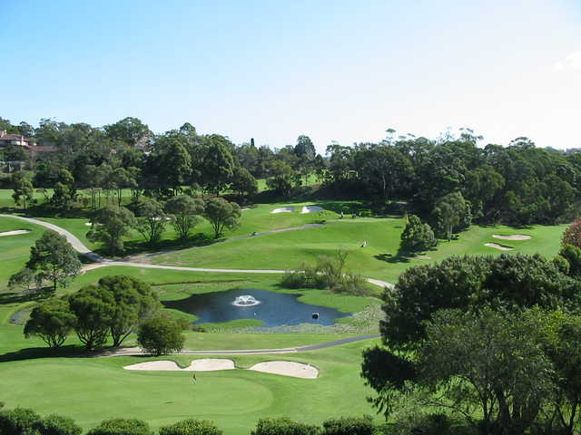 A sunny day view from Chatswood Golf Club.