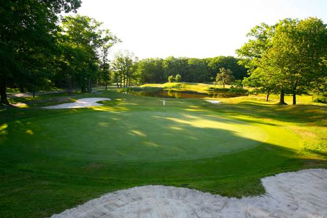 A view of a well protected hole from East Course at The Inn At Pocono Manor.