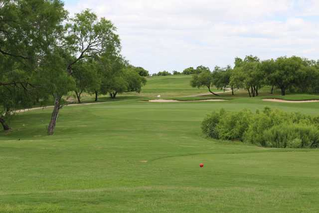 A view from a tee at Mission Del Lago Golf Course.