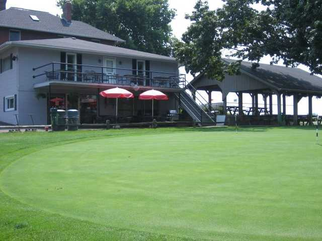 A view of the clubhouse at Homestead Springs Golf Course