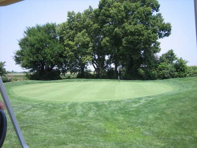 A view of the 1st green at Homestead Springs Golf Course
