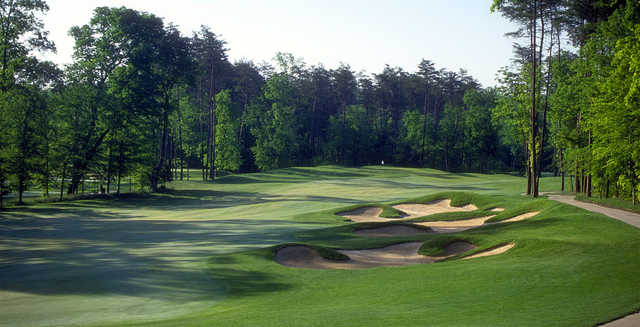 A view of a fairway at Westfields Golf Club.