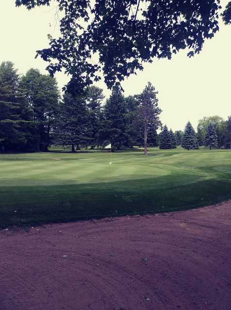 View of a green at Alpena Golf Club