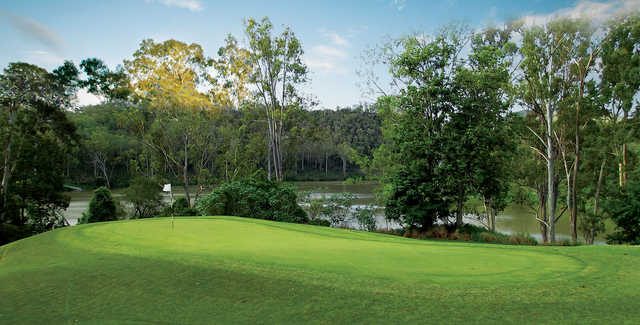 View of a green at Brisbane River Golf Course