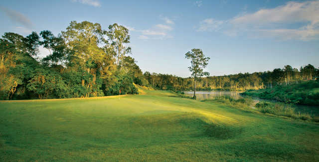Looking back from a green at Brisbane River Golf Course
