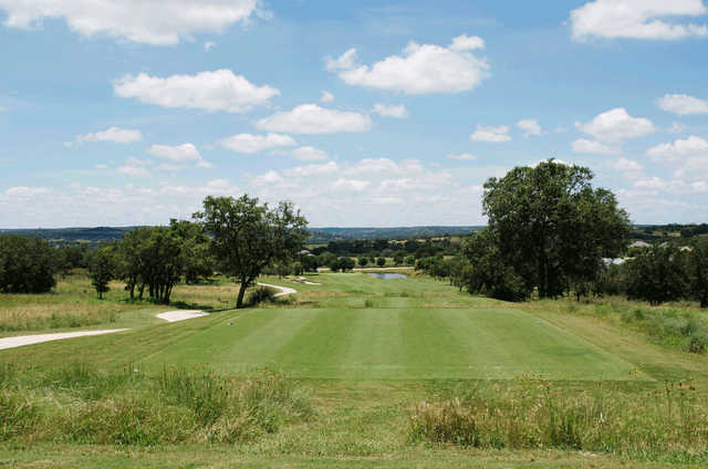 A view from tee #1 at Creeks Course from The Club At Comanche Trace.