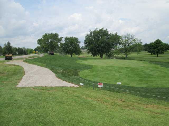 A view of the 9th green at South at Fellows Creek Golf Course.