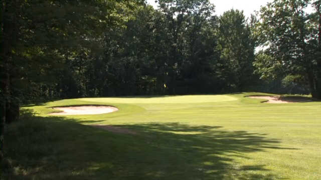 A view of the 6th green at Bass Lake Golf Course.