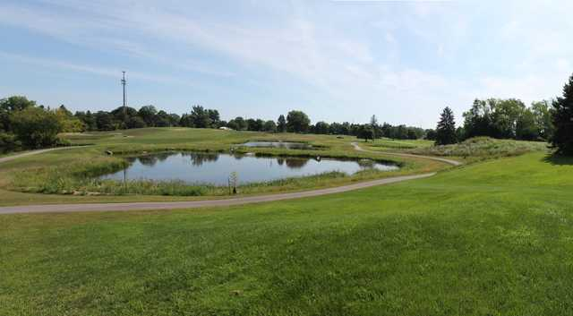 A view over the water from Groesbeck Golf Course.