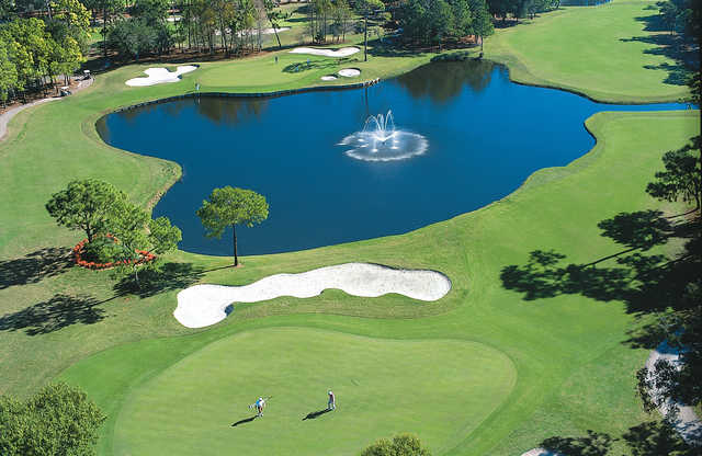 Aerial view of hole #12 at Copperhead Course from Innisbrook Resort & Golf Club.