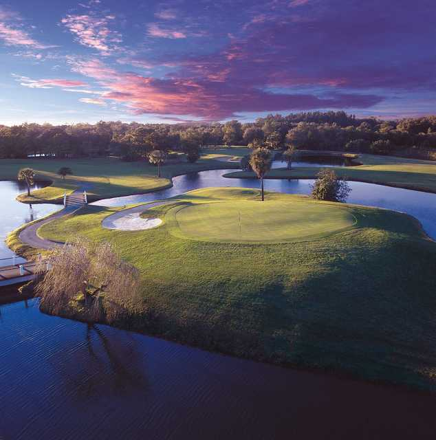 A view of the 5th green at North Course from Innisbrook Resort & Golf Club.