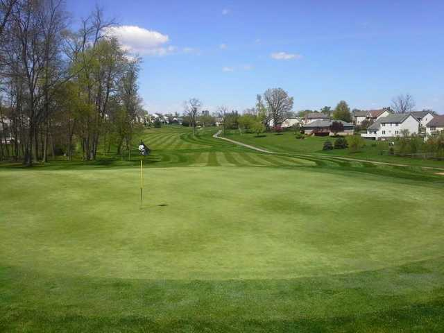 Looking back from the 13th green at Locust Hills Golf Course