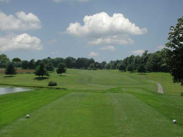 A view from a tee at Tashua Knolls Golf Course.