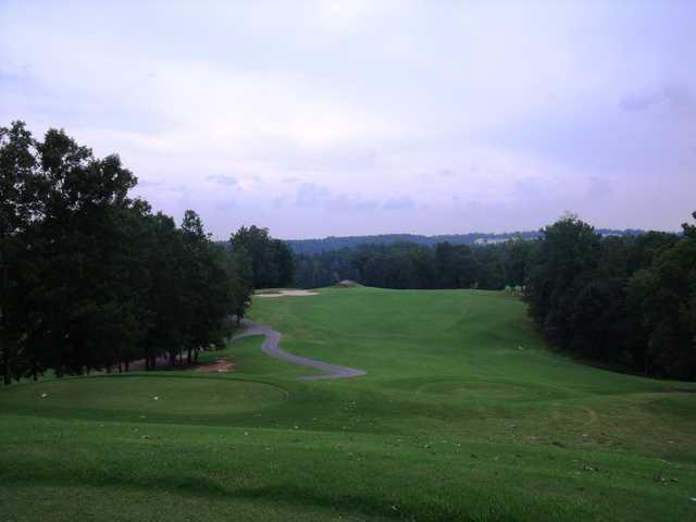 A view of a tee at Sugar Hill Golf Club.