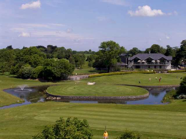 A view of hole #9 at Meadow Course from Corrstown Golf Club.