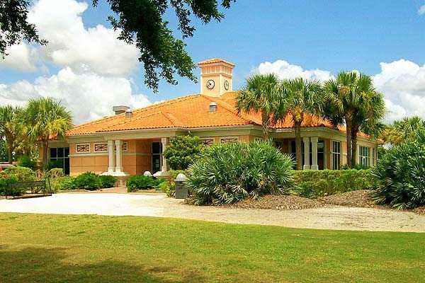A view of the clubhouse at Rocky Point Golf Course