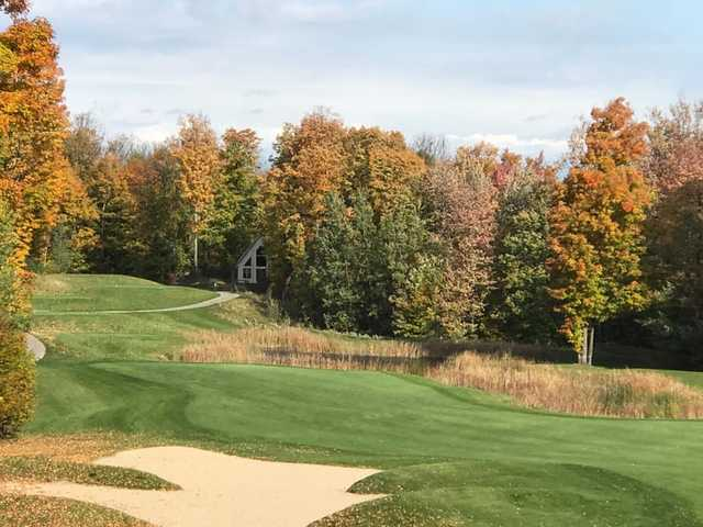 A view of a tee at The Chief Golf Course.