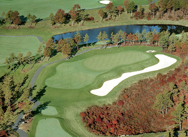 Aerial view from Waverly Oaks Golf Club