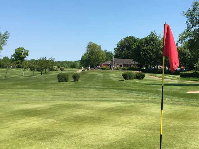 Looking back from a green at Wellow Golf Club