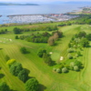 Aerial view from the Largs Golf Club towards the marina.