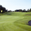 Looking back from a green at Kingsdown Golf Club